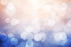 桃红色和蓝色bokeh背景的图象 免版税图库摄影