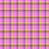 桃红色和黄色桌布无缝的纹理 库存例证