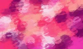 桃红色和紫色亲吻唇膏摘要 库存例证