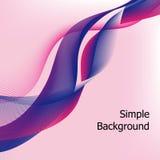 桃红色和紫色线背景传染媒介 图库摄影