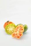 桃红色和绿色蕃茄 库存图片