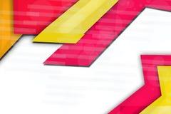 桃红色和黄色重叠形状,抽象背景 免版税库存图片