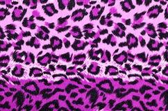 桃红色和黑豹子毛皮样式 免版税库存图片