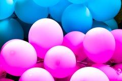 桃红色和bule气球 免版税库存照片