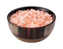 桃红色喜马拉雅盐被隔绝的裁减路线 库存图片