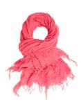 桃红色围巾。 库存图片
