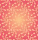 桃红色圆花卉无缝的样式 免版税库存图片