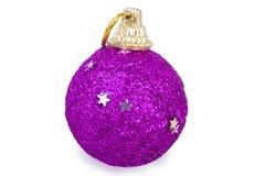 桃红色圣诞节玩具 免版税库存图片