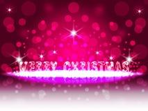 桃红色圣诞节 免版税库存照片