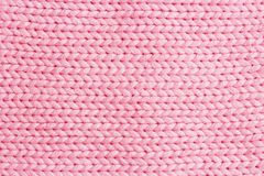 桃红色垂直线编织的织品纹理背景或编织 免版税库存照片