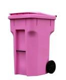 桃红色垃圾箱 库存照片