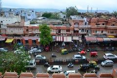 桃红色城市在斋浦尔,拉贾斯坦,印度 库存照片