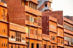 桃红色城市,斋浦尔,印度 免版税库存照片