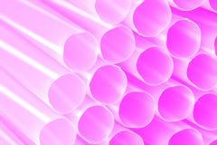 桃红色塑料管 库存照片