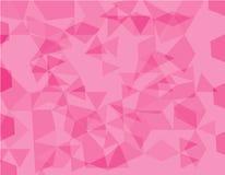 桃红色多角形例证,包括三角 在Origami样式的几何背景与梯度 三角设计fo 向量例证