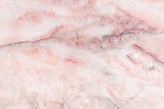 桃红色大理石仿造了纹理背景,从自然的详细的真正大理石 免版税库存照片