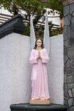 桃红色天使 免版税库存照片