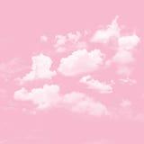桃红色天空和多云 库存照片