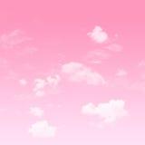 桃红色天空和多云 免版税库存照片