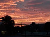 桃红色天空欢欣 库存图片