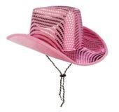 桃红色女牛仔帽子 免版税库存图片