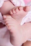 桃红色婴孩英尺 免版税库存照片