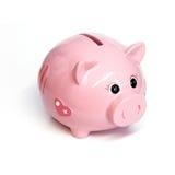 桃红色存钱罐 库存图片