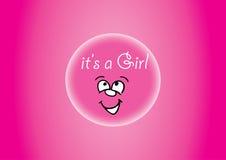 桃红色它是女孩! 免版税库存照片