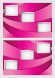 桃红色小册子设计模板 图库摄影