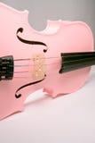 桃红色小提琴 库存照片