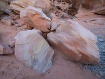 桃红色峡谷 库存图片