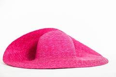 桃红色帽子 库存照片