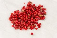 桃红色干胡椒(常绿灌木terebinthifolius) 库存照片