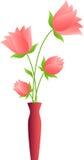 桃红色开花例证,桃红色郁金香 免版税库存照片