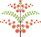 桃红色开花绿色树例证,树例证 库存照片