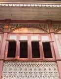 桃红色当代北泰国木议院, Bann Wongburi,  免版税库存照片