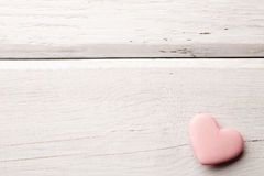 桃红色心脏。 免版税库存照片