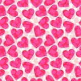 桃红色心脏 库存照片