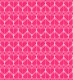 桃红色心脏无缝的样式导线传染媒介 免版税库存照片