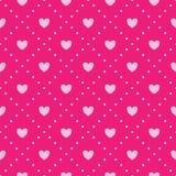 桃红色心脏样式。 库存图片