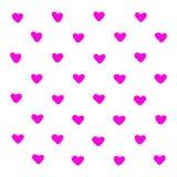 桃红色心脏样式例证 隔绝在白色启发图形设计印刷术元素 原始妇女被删去的样式 向量例证