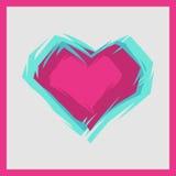 桃红色心脏的传染媒介例证 免版税库存图片