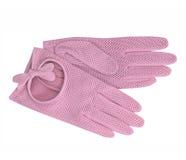 桃红色手套 图库摄影