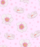 桃红色手拉的花纹花样传染媒介 向量例证