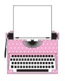 桃红色打字机圆点 免版税库存照片