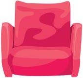 桃红色扶手椅子 免版税图库摄影