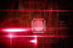 桃红色技术正方形接口设计 免版税图库摄影