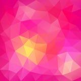 桃红色抽象多角形背景。能为墙纸, p使用 库存图片