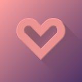 桃红色抽象心脏标志 库存照片