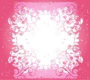 桃红色抽象花卉框架 库存图片